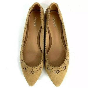 Joes Jeans Pointed Toe Laser Cut Ballet Flats 9.5